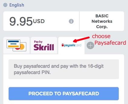 Accept Paysafecard